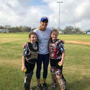 Aubree With Catchers