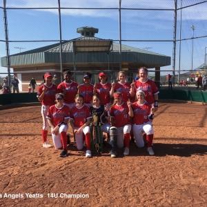 Oklahoma Angels Yeatts 14U Champion